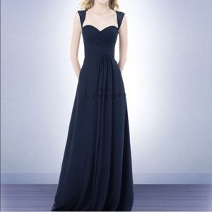 Bill Levkoff style 485 navy blue gown dress